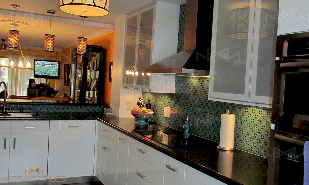 Kitchen backsplash renovation with zellige tiles