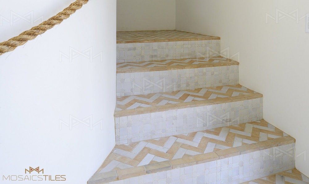 Zellige stairs
