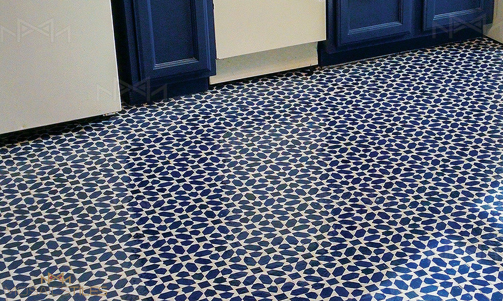 Moroccan tiles in New York kitchen
