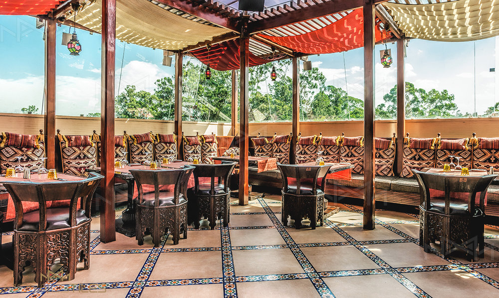 Restaurant Tambourin of Kempinsky hotel in Nairobi with zellige borders