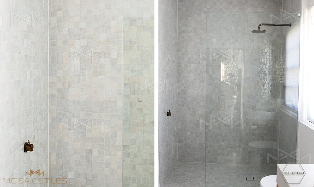 Moroccan tiles in Shower