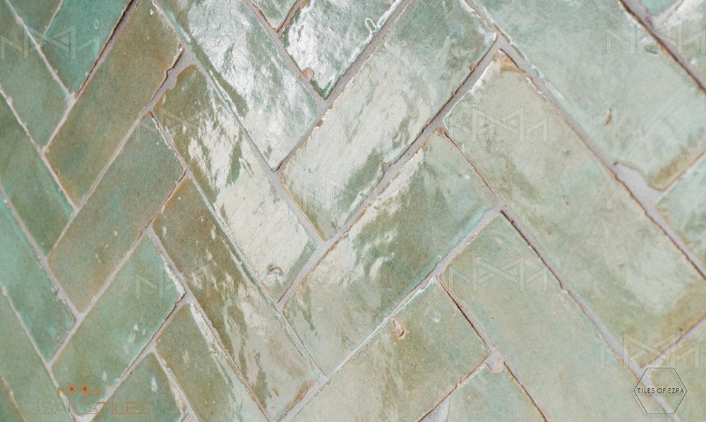 Aqua moroccan subway tile