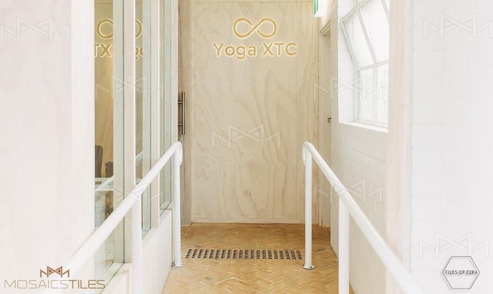 Yoga studio with moroccan floor