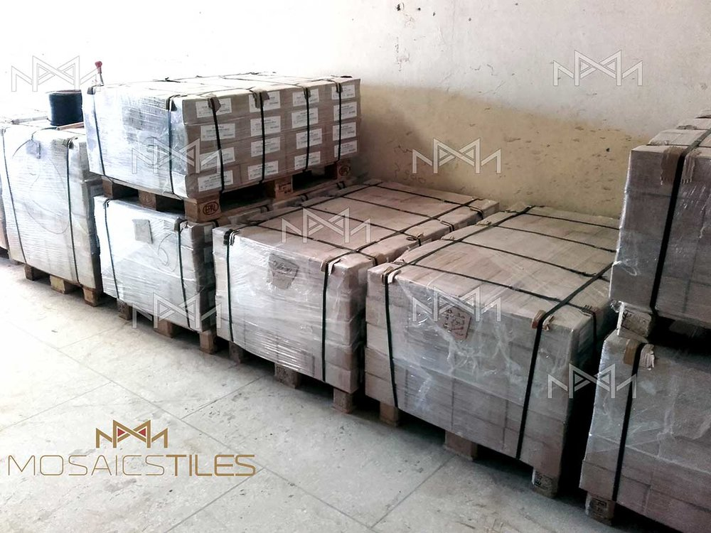 Zellij tiles packes and ready to be shipped