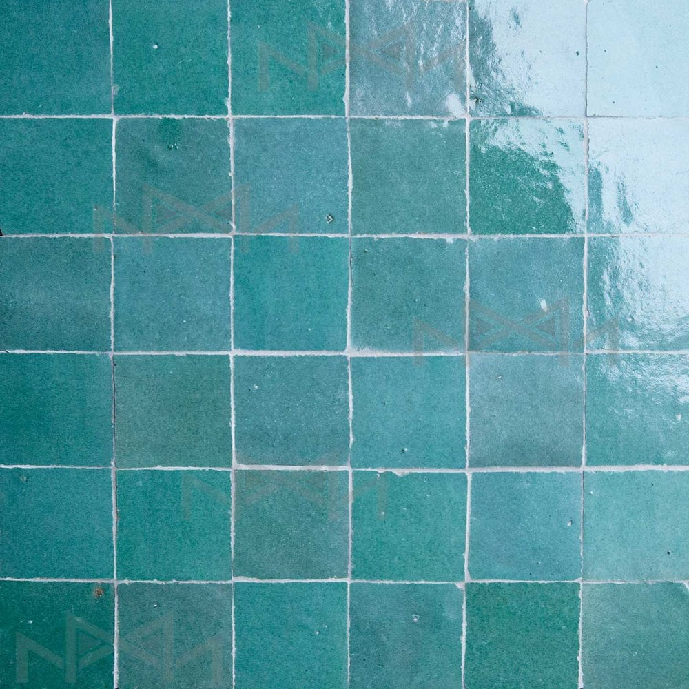 Moroccan zellige tiles colors