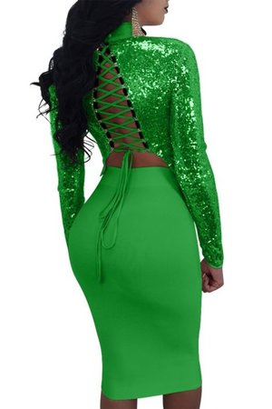 c6cc0841411a Green Two way Sequin CrissCross Two-Piece  F7D49EE5-F343-4114-B697-9F754BE21D7A.JPG