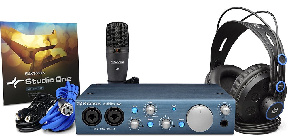 PreSonus iTwo Studio Recording Bundle