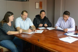 An Agreement work collaborate in ministry is signed