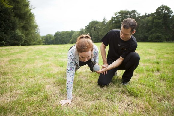 Ken Gilbert with a personal training client in the park