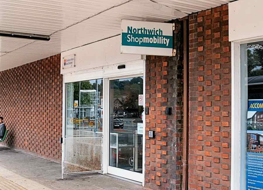 Northwich Shopmobility shopfront