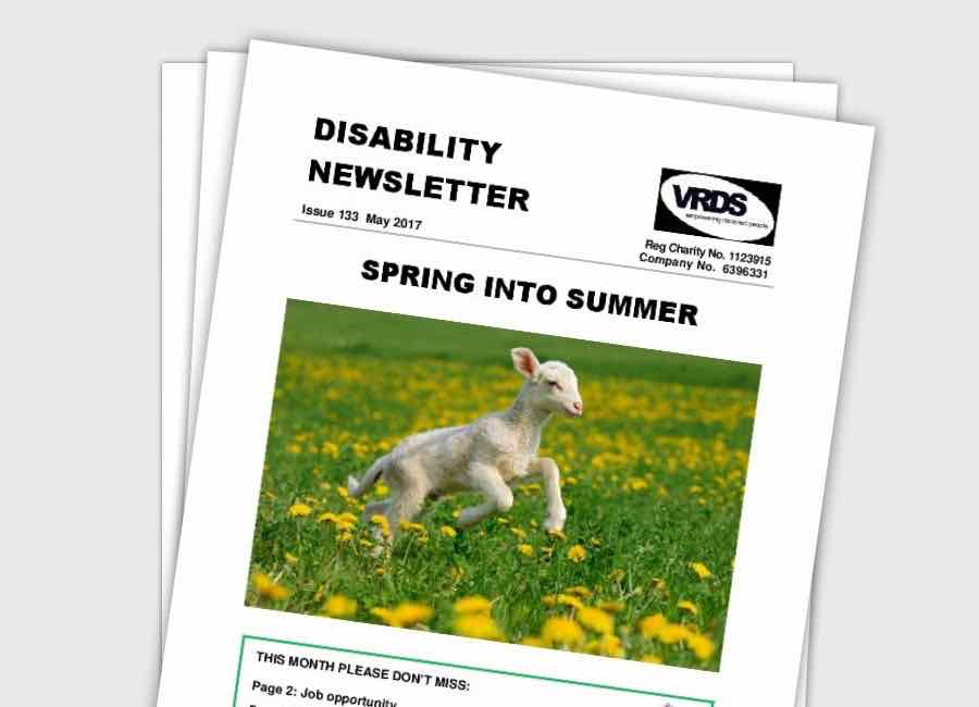Front cover of the VRDS Newsletter