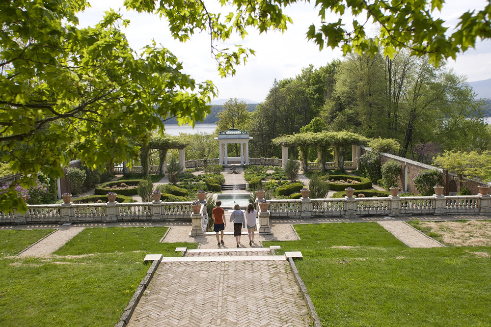 The Italianate garden at Bard College. Photo by Scott Barrow.
