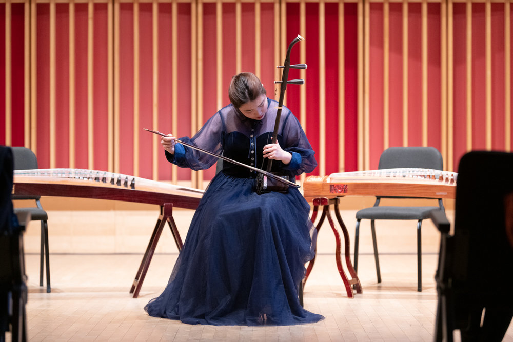 Bard student Liu Chang performs a solo piece on erhu.