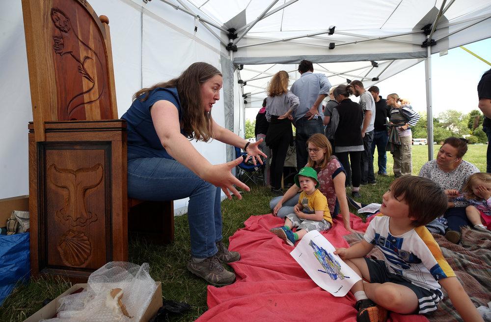 Tees Tales with storyteller Elizabeth Baker