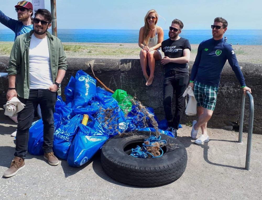 Hanging out with The Ripetide Movement lads two weeks ago at the World Ocean Day beach clean with Clean Coasts and Trilogy Skincare