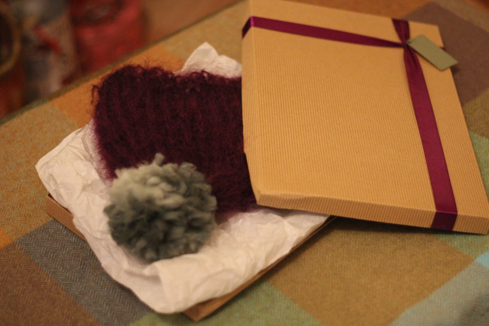 Handmade hat for my granny using a wool that matches one of her favourite jumpers