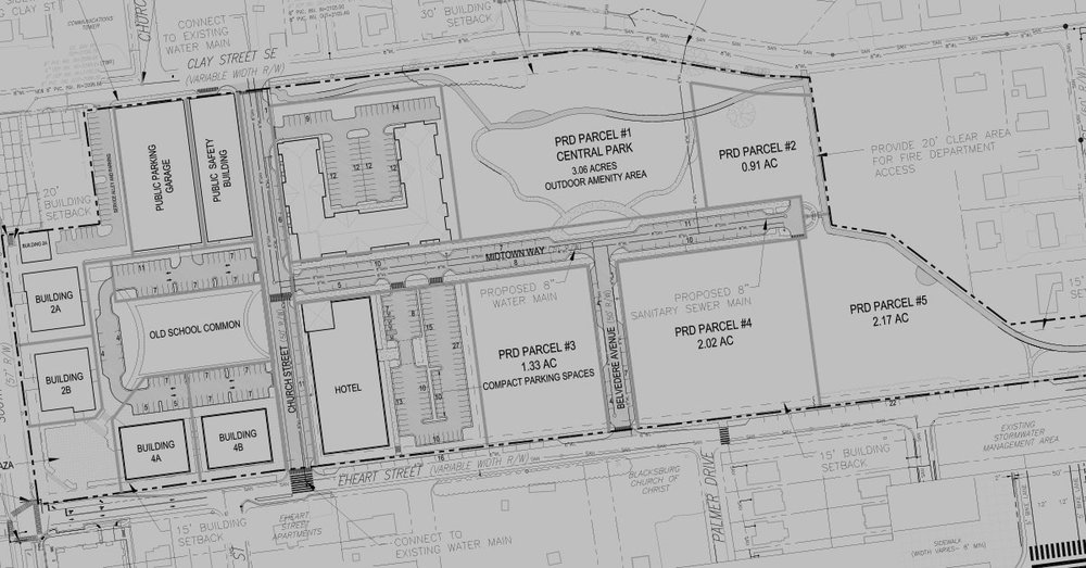 A photo of the Midtown plans