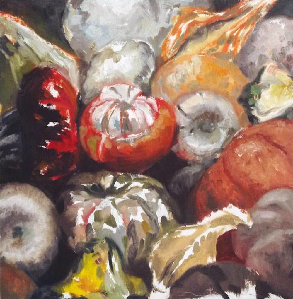"""Autumn Gourds ""    12"" x 12""  