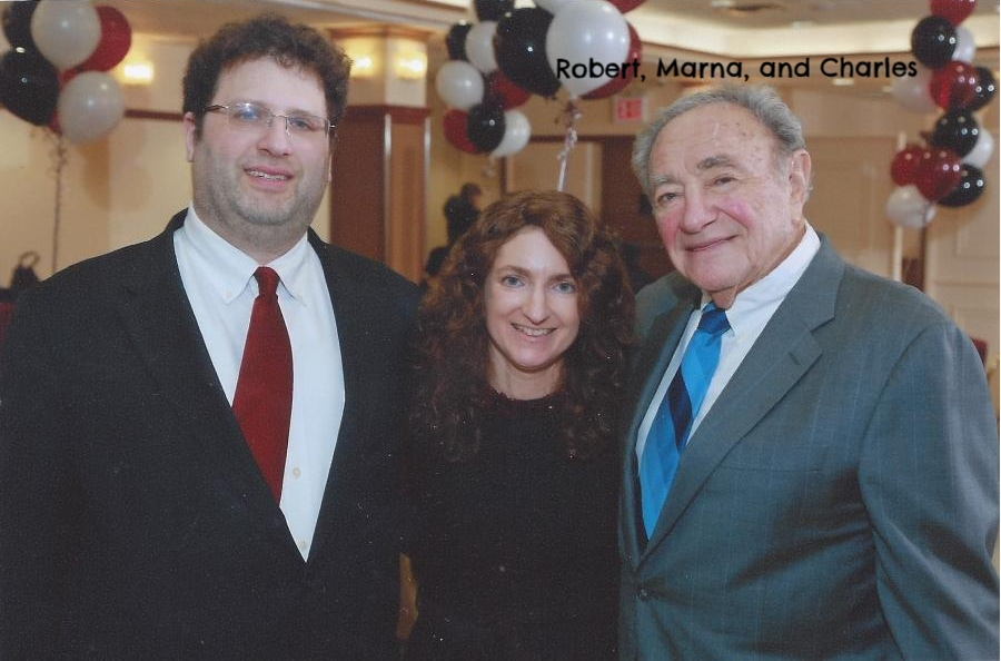 Marna, with her husband, Robert, and her father, Charles