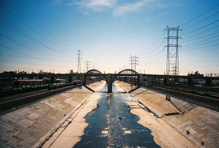 Los Angeles River and Sixth Street viaduct.