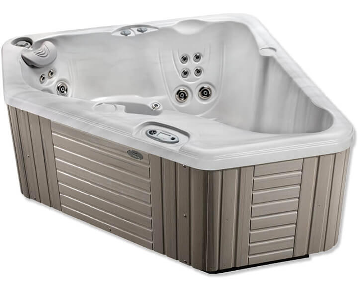The Vacanza's space saving designs put Caldera Spa luxury well within reach.   View models -->