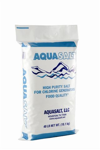 AQUASALT®  Aquasalt®is 100% produced using the Evaporated Food Grade Salt Process in the two newest and most technologically advanced salt plants in the U.S.A. AQUASALT is the purest salt available for swimming pool and spa chlorine generators.
