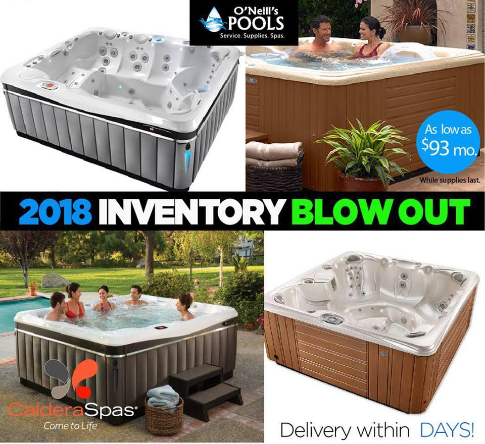 2019 models are on their way in and all 2018 models have got to go! Get into a    Caldera Spas    hot tub today!