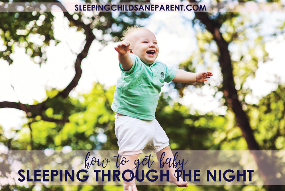 Nightwakings are exhausting for the whole family. Check out this post to find out what you could be doing differently to encourage your baby to sleep through the night ASAP!