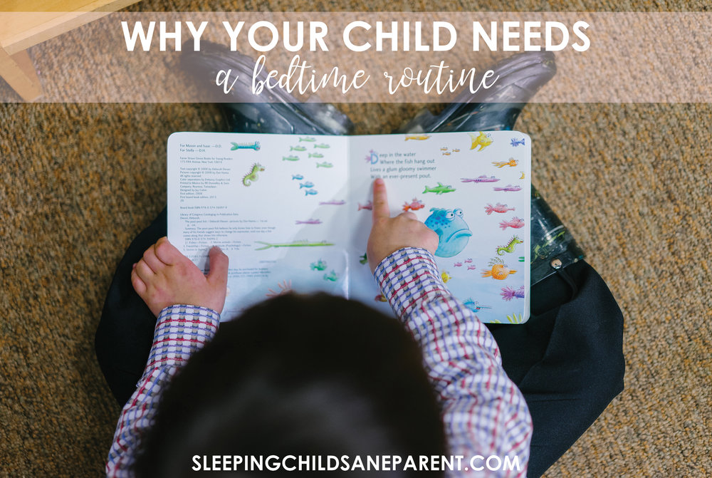 Bedtime routines are one of the three key pieces of healthy sleep for your little one. Check out this post for more information on why routines are so important and to find some ideas for bedtime routines.