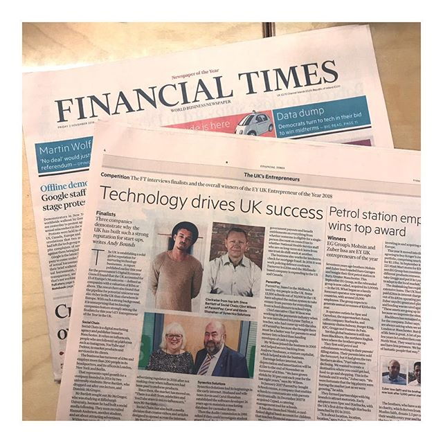 Find our talented client @socialchain in the @financialtimes today, a leading company who are demonstrating why the UK has built such a strong reputation for start ups 💪💪💪