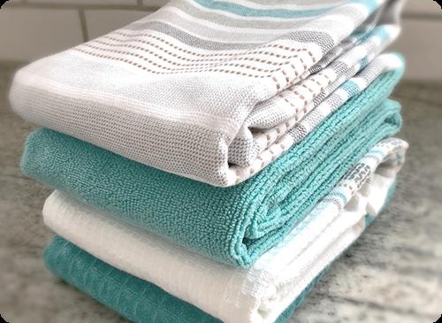 kitchen towel set: 9 weeks — blue cottage linens