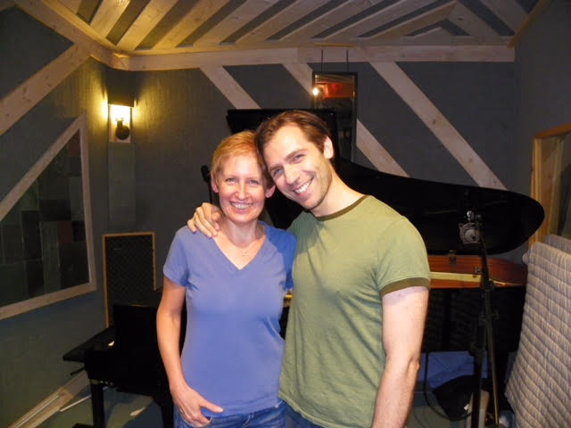 "In the Studio with Liz Callaway recording ""Cautiously Optimistic"""