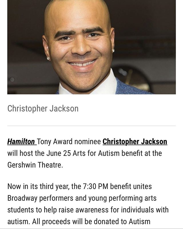Excited Chris Jackson is singing my song for the finale of this benefit! . . . #autismlife #newmusicaltheatre #autismlove #iftheworldonlyknew #SEDMusic #musicals #autismsings #autismlove #bway #broadwaybound #anagramsrule