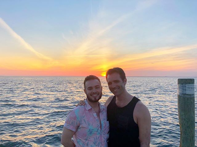 Take me back. . . . #fireisland #cherrygrove #sunset #sun. #beach #water #instagay #engayged #fiance #pride🌈