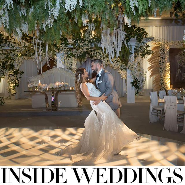 Mr. and Mrs. Mathews 💜 as featured in @insideweddings #Spring2019 (Venue: @monarchbresort | Planning & Design: @internationaleventco @coradkaplan | Photographer: @curtisdahl | Video: @vidicamproductions | Florist: @marksgarden @michael_MarksGarden | Furniture/Decor/Draping: @revelryeventdesign @matiasdoorn | Rentals: @tacer_losangeles | Lighting: @images_lighting | Music: @westcoastmusicbevhills | Sound: @design.sound | Reception Chairs: @wildflowerlinen | Linens/Napkins: @luxe_linen | Chargers: @bbjlinen | Wedding Cake: @JandLCakes | Wedding Dresser: @asitbridal | Photobooth: @mvsstudio | Late Night Snacks: @kingtacocatering)