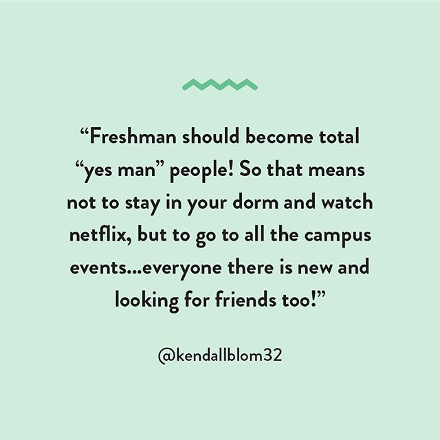 Wise words from a former UK rep to freshman 💪 What advice do you have for students just beginning their college career?