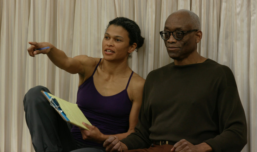 Bill T. Jones and Roz LeBlanc in D-Man rehearsal with LMU cast 1.jpg