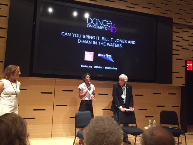 Roz and Tom introducing excerpt FS of Linclon Center Dance on Camera Festival 2018.jpg