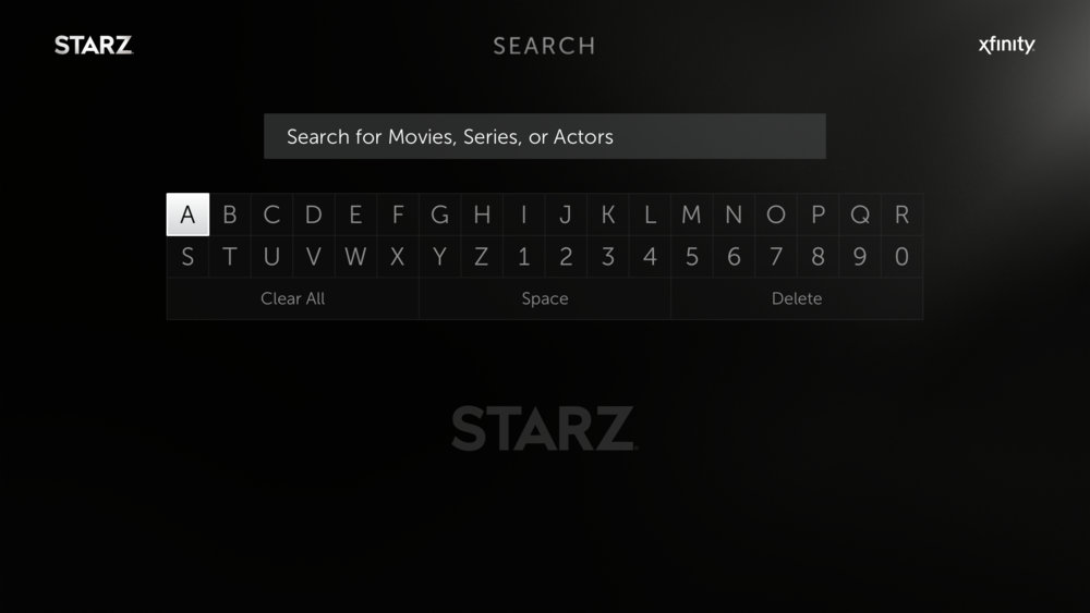 STARZ custom Search keyboard - the final result.