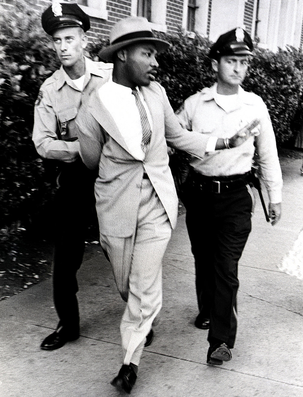 1956 | January 26th - Dr. King is arrested on a charge of travelling thirty miles per hour in a twenty-five miles per hour zone in Montgomery. He is later released.