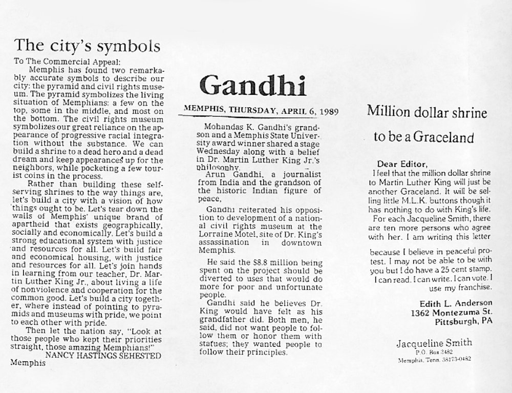 Ghandi Newspaper clippings.jpg