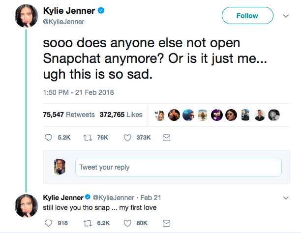 Image from Kylie Jenner's Twitter account.
