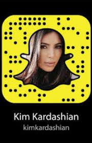 Kim Kardashian's Snapchat.