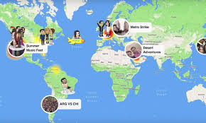 Snapchat Snap Map.