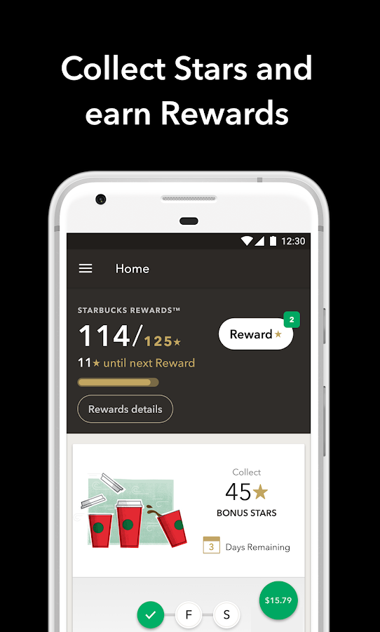 Starbucks allows viewers to track their rewards after each purchase. What if there was an automatic way for customers to track their caffeine intake with a similar progress bar? Source: Starbucks.