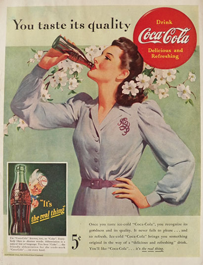 You Taste Its Quality Coke Ad- 1942
