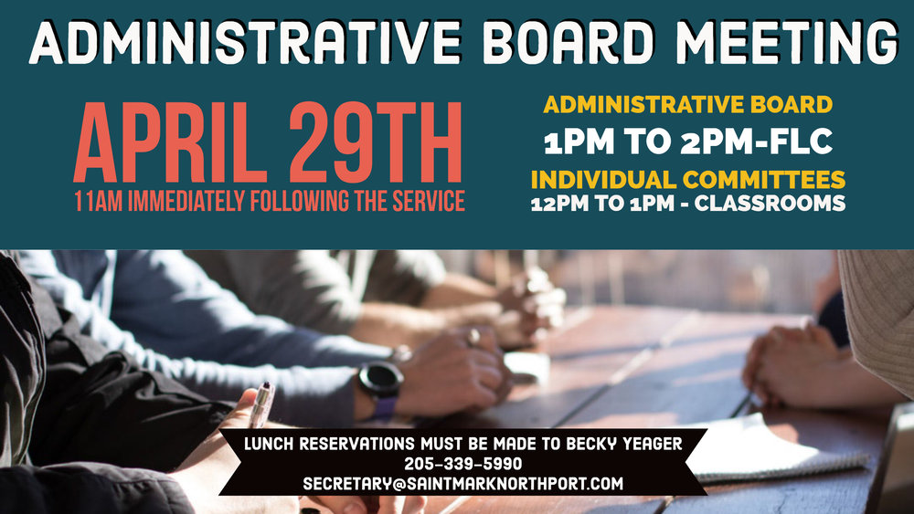 saint mark northport administrative board meeting