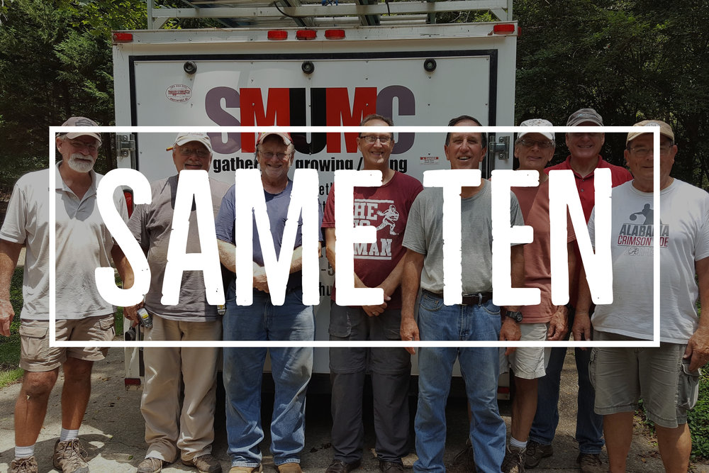 Same Ten is a Men's small group that meets weekly and particpates in acts of service in the community.