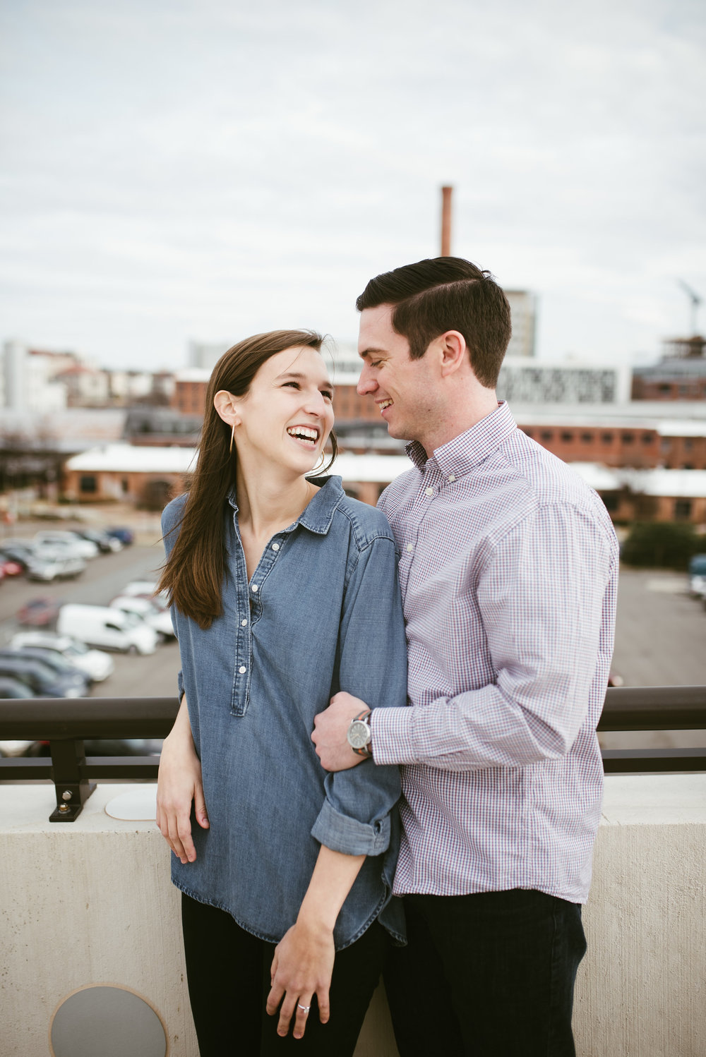 Downtown Durham Engagement Session - North Carolina Engagement Session - Tobacco Campus Engagement Session