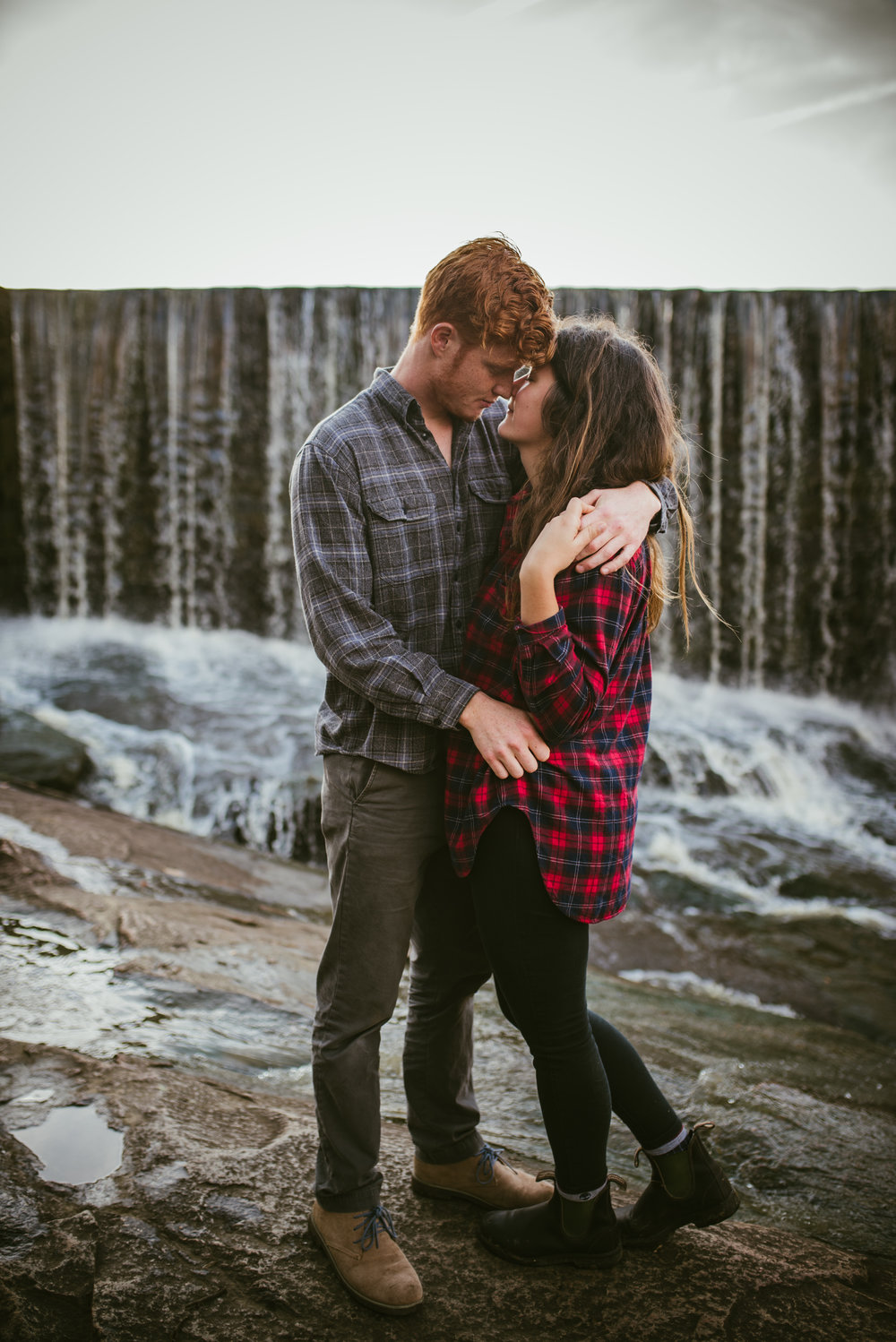 raleigh photographer - raleigh engagement - waterfall engagement - outdoors engagement